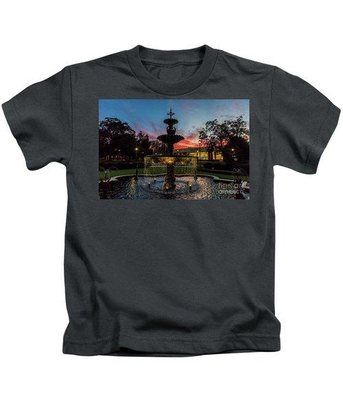 Augusta University Fountain Sunset Ga Kids T-Shirt