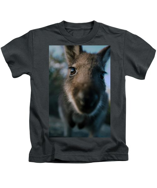 Australian Bush Wallaby Outside During The Day. Kids T-Shirt