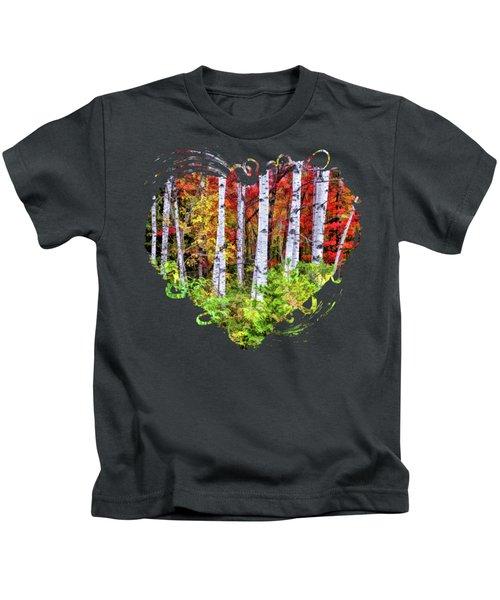Autumn Birches Kids T-Shirt