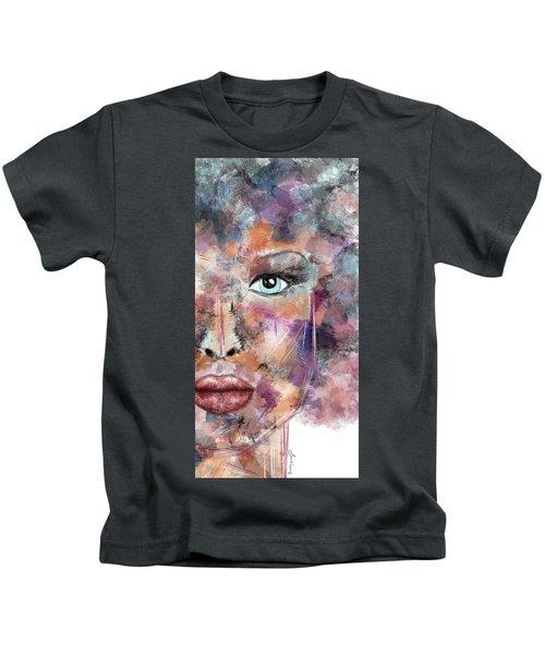 Autumn - Woman Abstract Art Kids T-Shirt