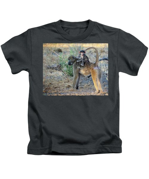 Baboon And Baby Kids T-Shirt