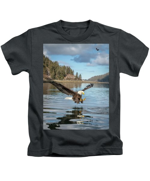 Bald Eagle Fishing In Sadie Cove Kids T-Shirt