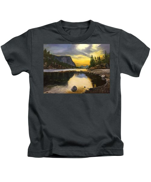 Bow River Sunrise  Kids T-Shirt