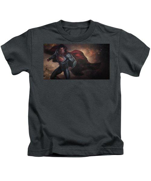 Batman V Superman Textless Kids T-Shirt