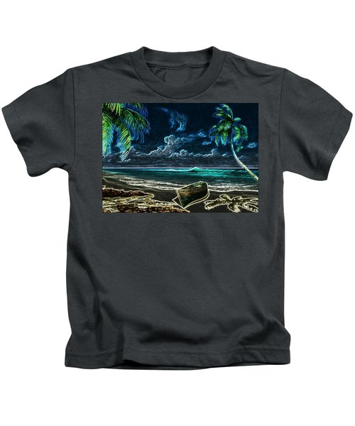 Beach At Night Kids T-Shirt