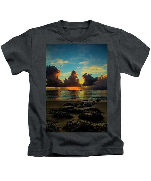 Beach At Sunset 2 Kids T-Shirt