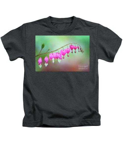 Beautiful Bleeding Hearts Kids T-Shirt