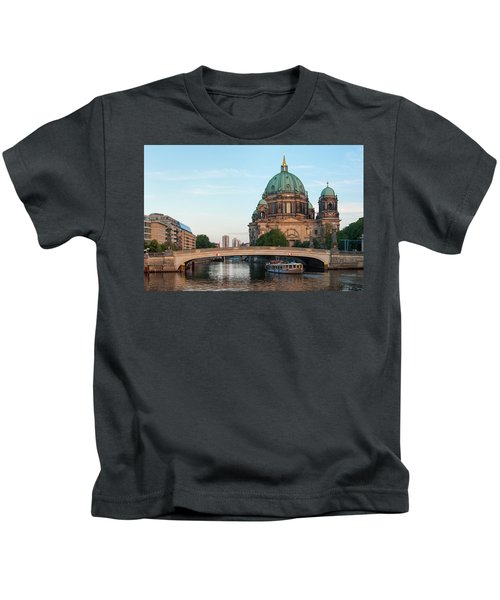 Berliner Dom And River Spree In Berlin Kids T-Shirt