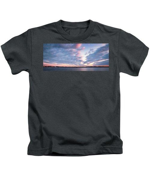 Big Sky Over Portsmouth Light. Kids T-Shirt