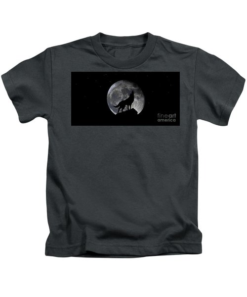 Pre Blood Red Wolf Supermoon Eclipse 873r Kids T-Shirt