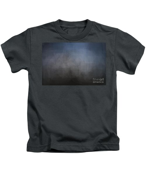 Blue Gray Abstract Background With Blurred Geometric Shapes. Kids T-Shirt