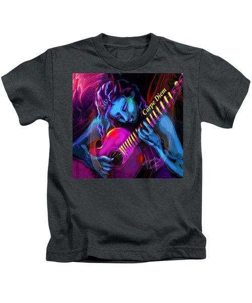 Blue Heart, Carpe Diem Kids T-Shirt