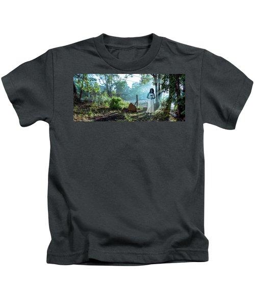 Blue Lady Kids T-Shirt