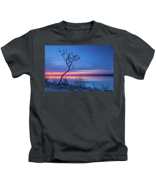 Blue Silence Kids T-Shirt