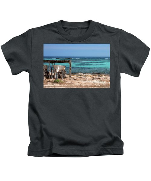 Boathouse With A View Kids T-Shirt