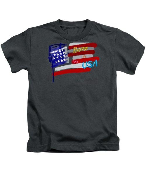 Born In The Usa - T-shirt Kids T-Shirt