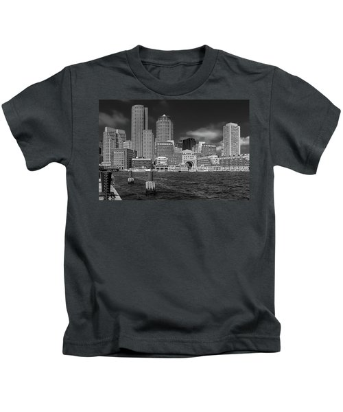 Boston Harbor Skyline Kids T-Shirt
