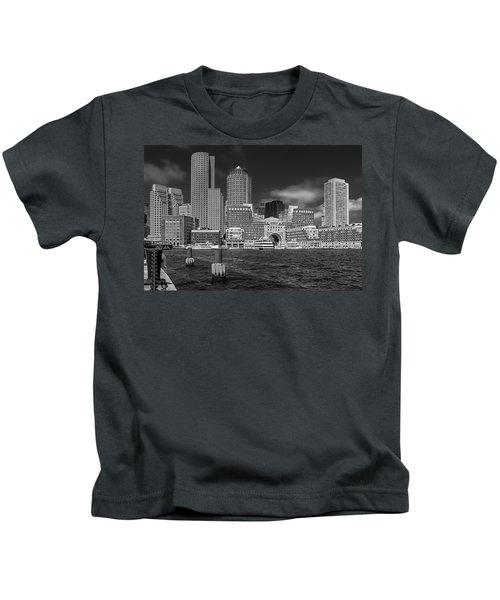 Boston Harbor Skyline Kids T-Shirt