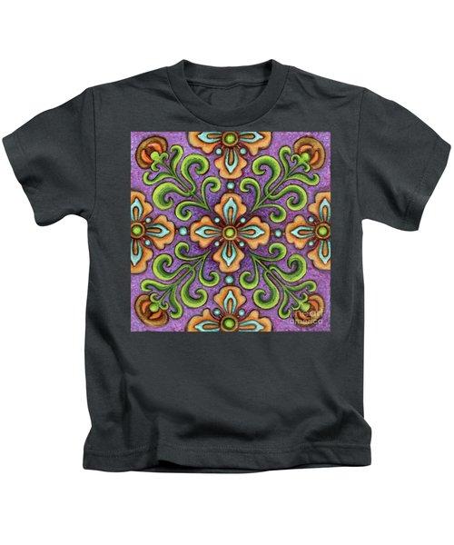 Botanical Mandala 10 Kids T-Shirt