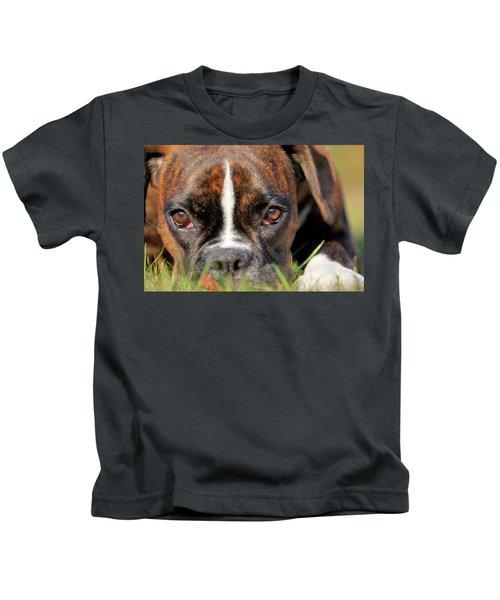 Boxer Dog Face Kids T-Shirt