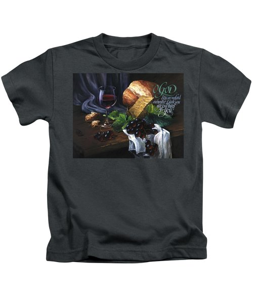 Bread And Wine Kids T-Shirt
