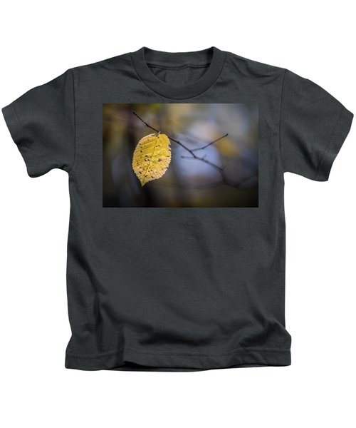 Bright Fall Leaf 1 Kids T-Shirt