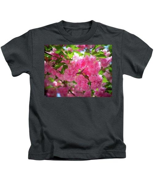 Bright Pink Blossoms Kids T-Shirt
