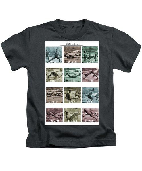 Bum Fit Beach Workout  Kids T-Shirt