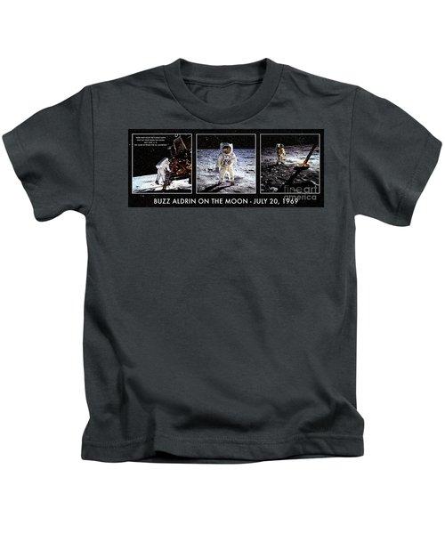 Buzz Aldrin On The Moon Kids T-Shirt