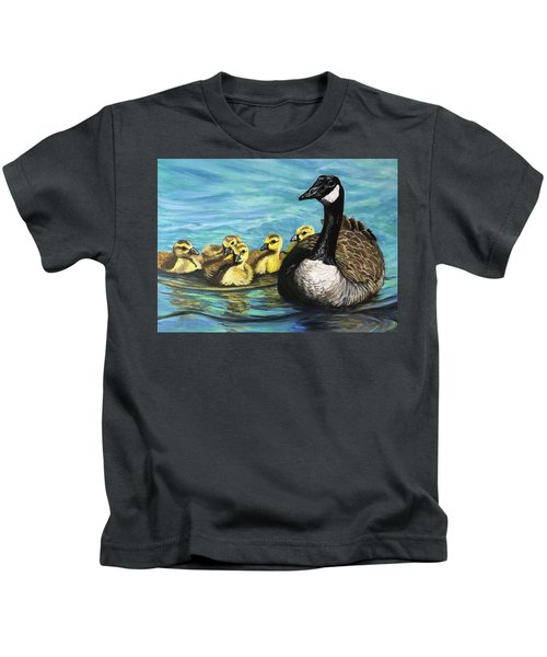 Canadian Goise And Goslings Kids T-Shirt
