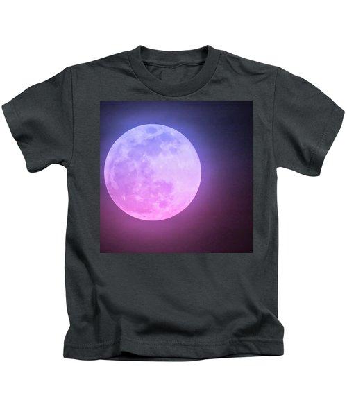 Cancer Super Wolf Blood Moon Near Eclipse Kids T-Shirt