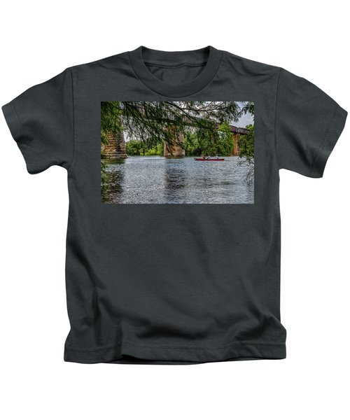Canoeing Lady Bird Lake Kids T-Shirt