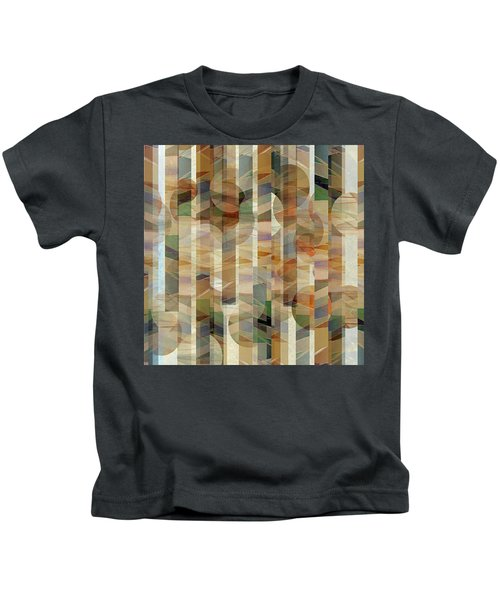 Canyon Circles And Stripes Kids T-Shirt
