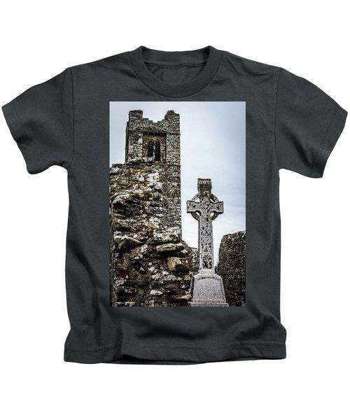 Celtic Cross At Hill Of Slane Kids T-Shirt