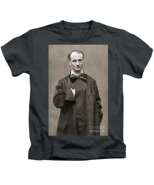 Charles Pierre Baudelaire, French Poet, Essayist And Art Critic Kids T-Shirt