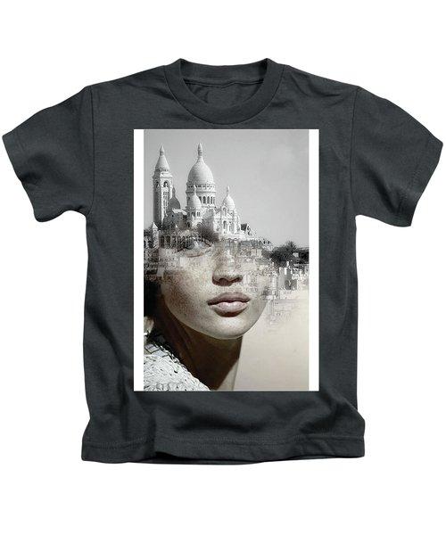 Cherishing White Buildings Kids T-Shirt