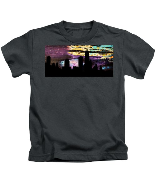 Chicago Skyline Abstract Kids T-Shirt