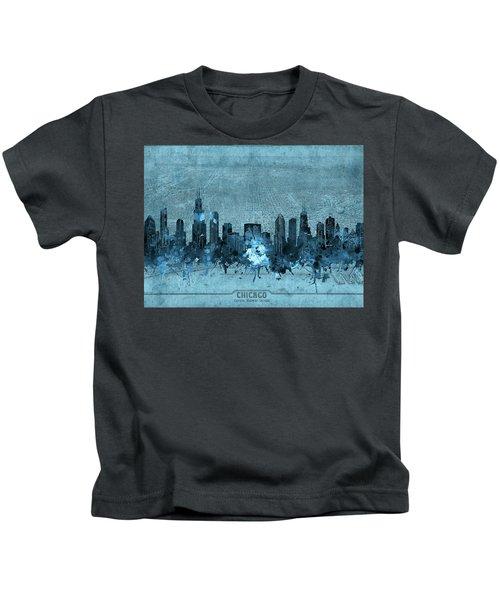 Chicago Skyline Vintage 4 Kids T-Shirt