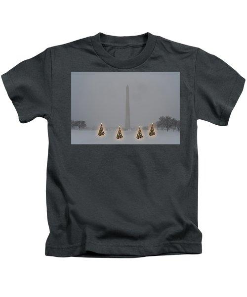 Christmas Trees Around The Monument Kids T-Shirt