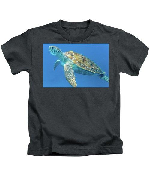 Close Up Sea Turtle Kids T-Shirt