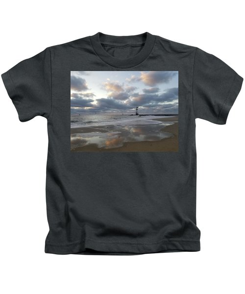 Cloud's Reflections At The Inlet Kids T-Shirt