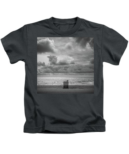 Cloudy Morning Rough Waves Kids T-Shirt