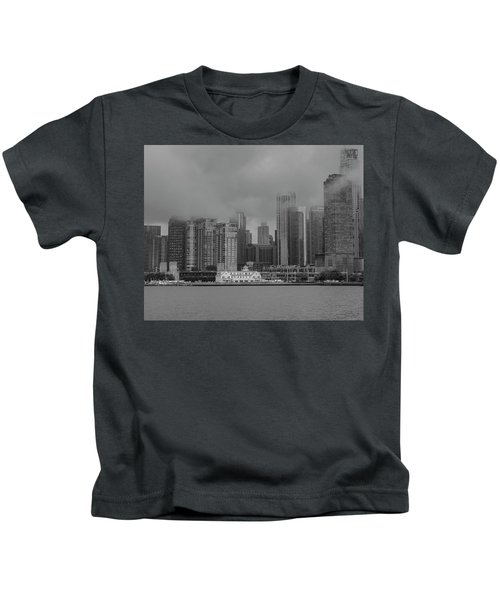 Cloudy Skyline Kids T-Shirt