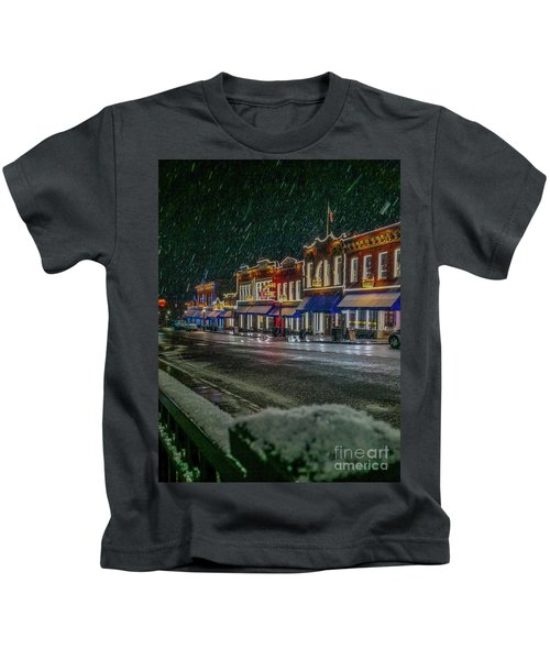 Cold Night In Cripple Creek Kids T-Shirt