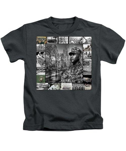 Colonel Trimble Collage Kids T-Shirt
