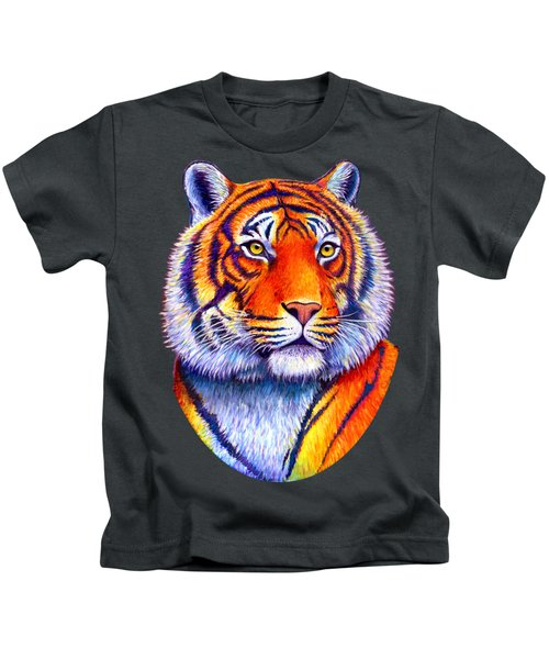 Fiery Beauty - Colorful Bengal Tiger Kids T-Shirt