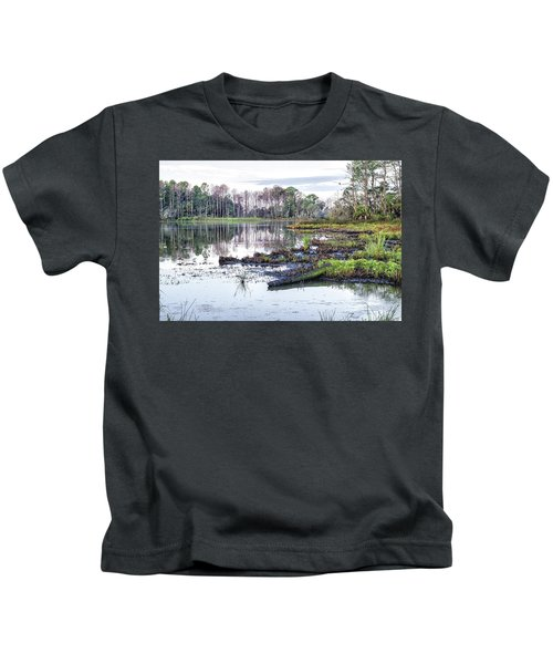 Coosaw - Early Morning Rice Field Kids T-Shirt