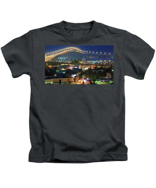 Coronado Bay Bridge Shines Brightly As An Iconic San Diego Landmark Kids T-Shirt