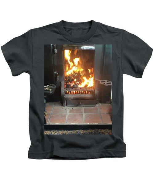 Cosy Winter Fire Kids T-Shirt