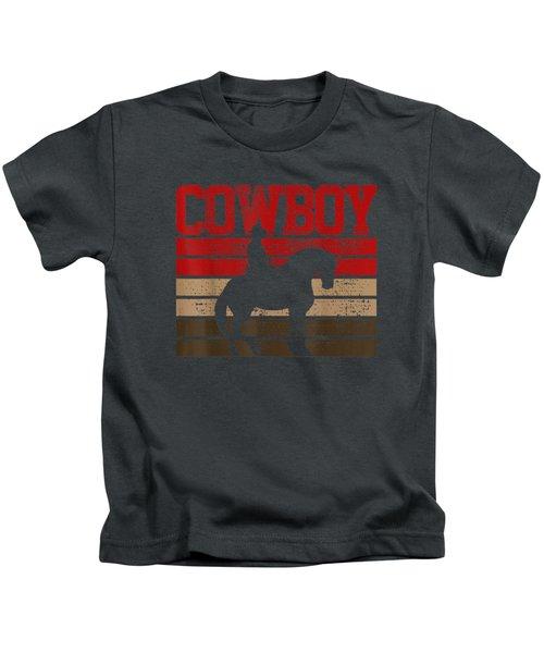 Cowboy T-shirt Rodeo Tshirt Horse Tee Gift Country Kids T-Shirt